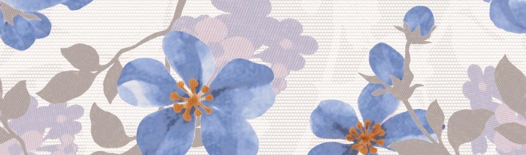 Плитка бордюр 250х75 мм Натали голубой
