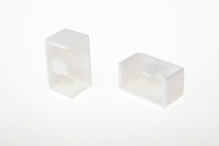 Заглушка для кабель-канала  25х25 мм белая