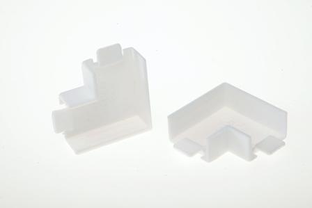 Угол плоский для кабель-канала  25x25 мм белый