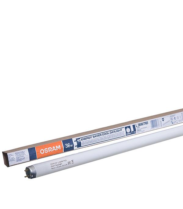 Лампа люминесцентная 36W/765 (холодный дневной свет), d26 (Т8), G13, 1200 мм,  Osram