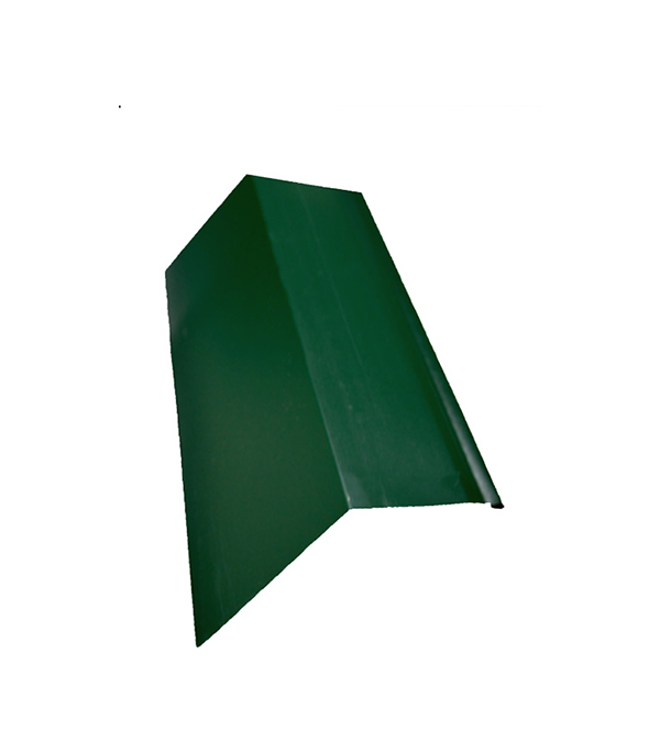 Планка карнизная для металлочерепицы зеленая RAL 6005 50х100 мм 2 м  планка карнизная для металлочерепицы 80х100 мм 2м зеленая ral 6005
