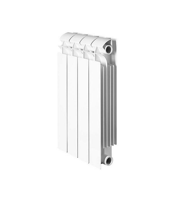 Радиатор биметаллический 1 GLOBAL Style Plus 500,  4 секции радиатор отопления global алюминиевые vox r 500 4 секции