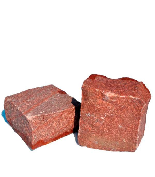 Камни для саун, малиновый кварцит обвалованный, 20 кг