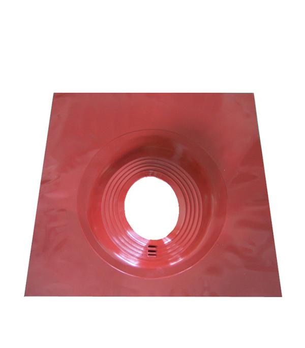 Проходник для крыш угловой, 650х650 мм, d=203-280 мм, красный