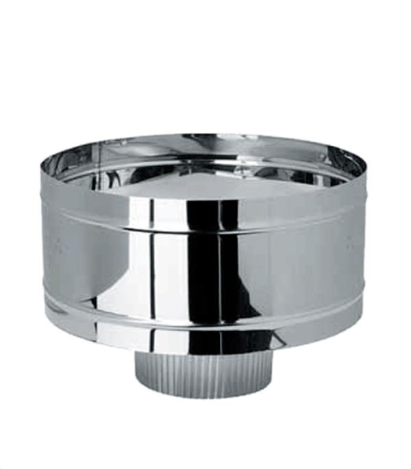 Дефлектор-К (зонт с ветрозащитой) из нержавеющей стали, d=120 мм