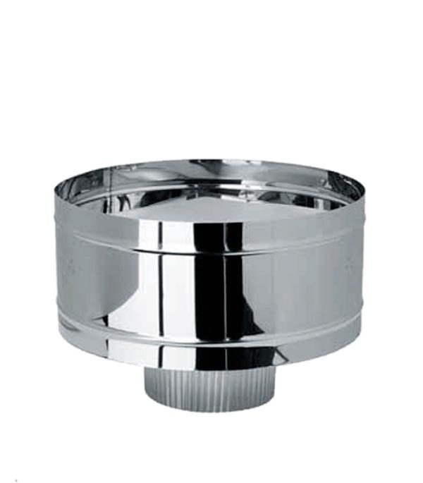 Дефлектор-К (зонт с ветрозащитой) из нержавеющей стали, d=150 мм