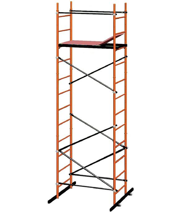 Вышка-тура 4,2 м (рабочая высота 5м) стальная Компакт Эконом
