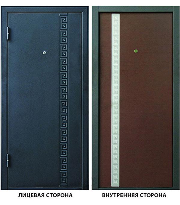 Дверь металлическая ДК Эллада 960x2050 мм левая, без цилиндра и ручки