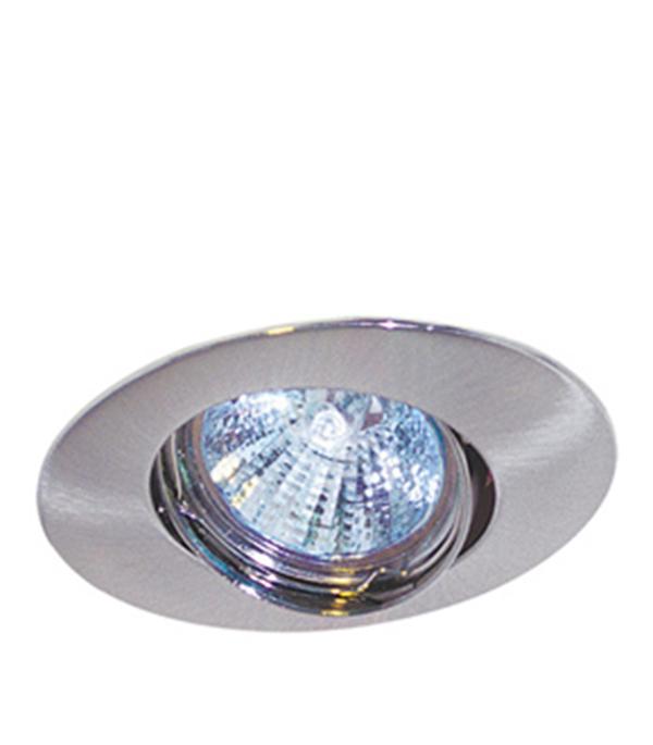 Светильник встраиваемый овальный поворотный хром матовый 1х50W (MR16,12В), IP20, WL-110