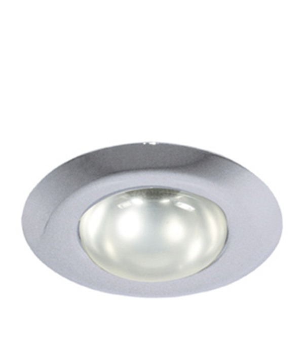 Светильник встраиваемый круглый хром 1хR63 (220В), IP20, WL-271