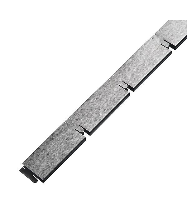 Элемент решетки серый металлик «папа» 10х40х600 мм, ячейка 100х100 мм Грильято
