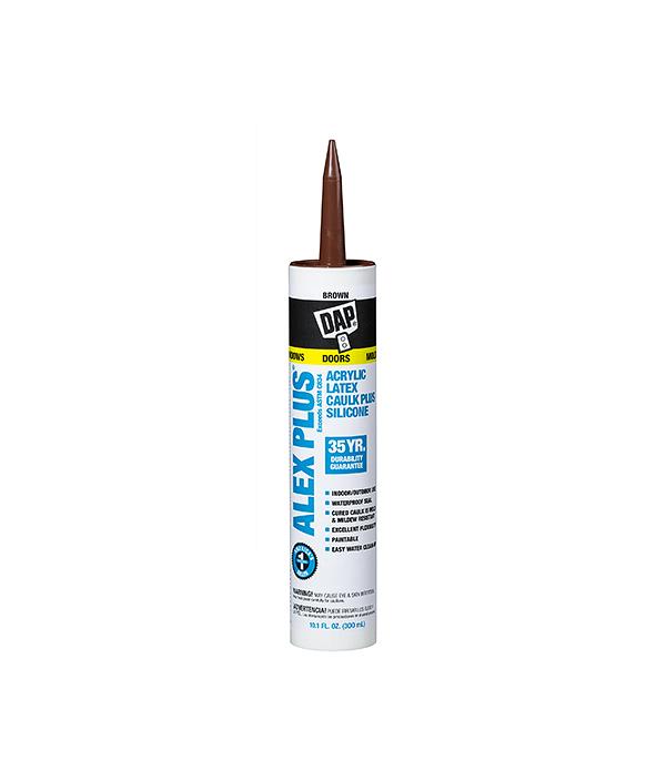 Герметик силиконовый DAP Аlex Plus нейтральный 300 мл коричневый