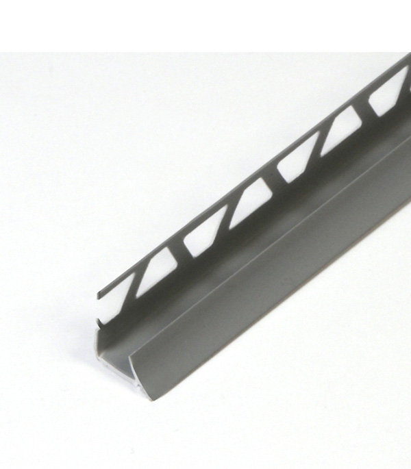 Раскладка внутренняя под плитку 10х2500 мм Серая