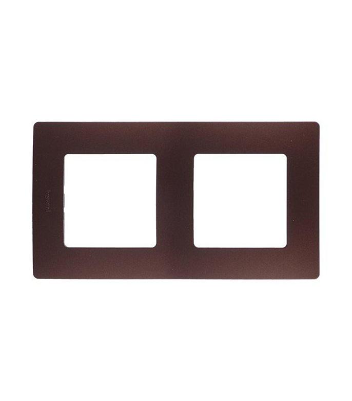 Рамка двухместная универсальная  Legrand Etika какао