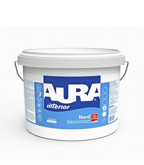 Краска в/д интерьерная Interior Aura Nord основа А 15 л