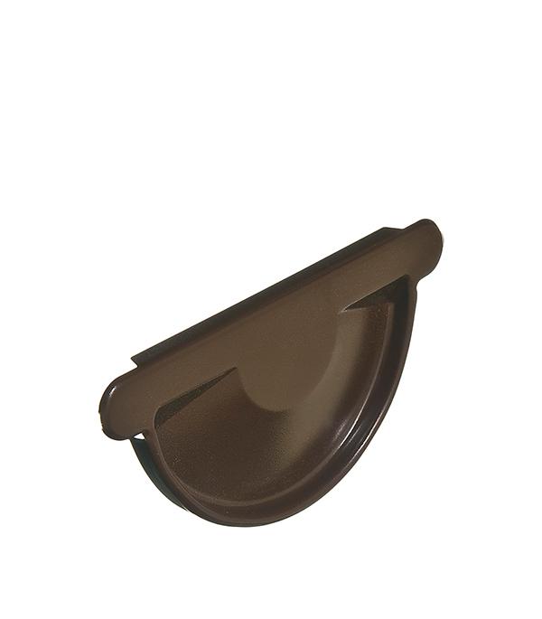 Заглушка желоба Grand Line универсальная коричневая металлическая кронштейн крюк желоба металлический 70 мм коричневый grand line