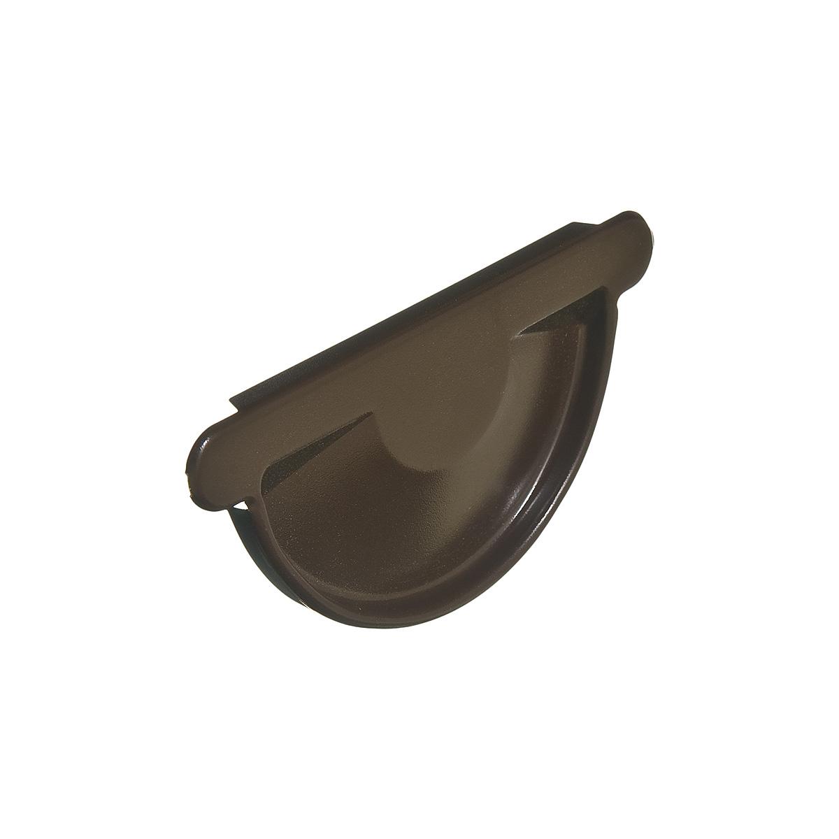 Заглушка желоба металлическая универсальная  коричневая Grand Line