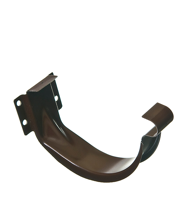 Кронштейн крюк желоба Grand Line 70 мм коричневый металлический угол желоба внутренний grand line 125 90° красное вино металлический