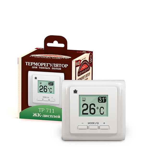 Терморегулятор ТР 711 электронный жидкокристаллический белый, Национальный комфорт