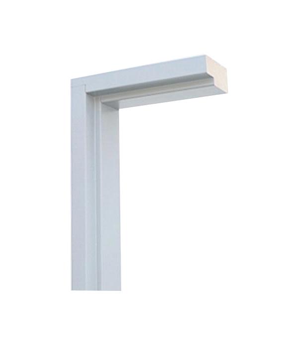 Коробка дверная  белая ламинированная  универсальная 70х34х2100 мм