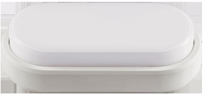 Светильник светодиодный  8 Вт овальный влагозащищенный (IP 65), 4000K (холодный свет)