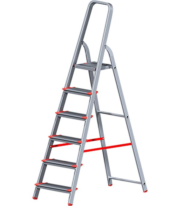 Стремянка алюминиевая усиленная 6 ступеней Новая высота Стандарт