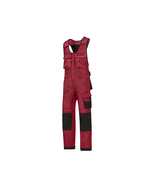 Полукомбинезон красный, размер 50, рост 170-182 Snickers workwear  Профи