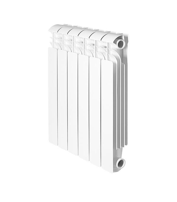 Радиатор алюминиевый 1 Global Iseo 500, 6 секций радиатор отопления global алюминиевые vox r 500 12 секций