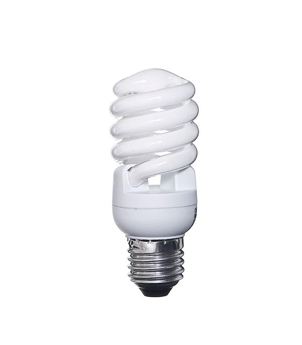 Лампа энергосберегающая E27, 15W, MiniTwist, 4000К (холодный свет), Osram