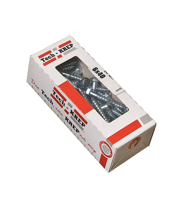 Болты сантехнические оцинкованные 6х40 мм DIN 571 (50 шт) болты сантехнические оцинкованные 6х90 мм din 571 30 шт