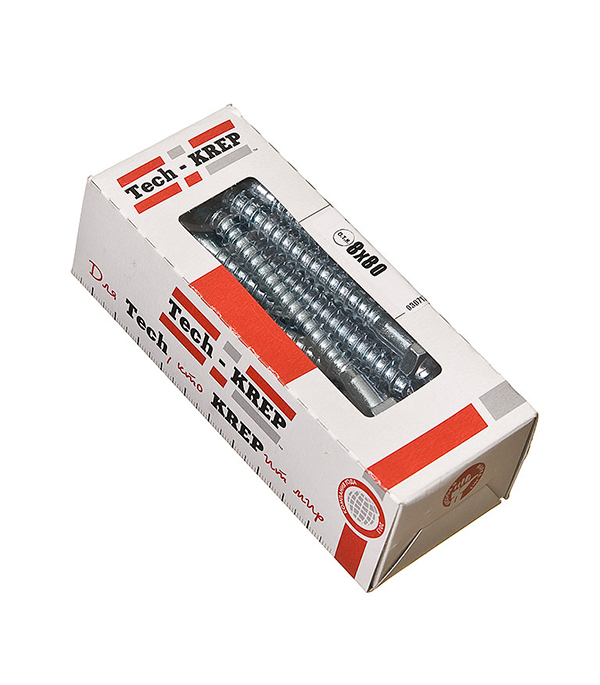 Болты сантехнические оцинкованные   8х80 мм DIN 571 (20 шт)
