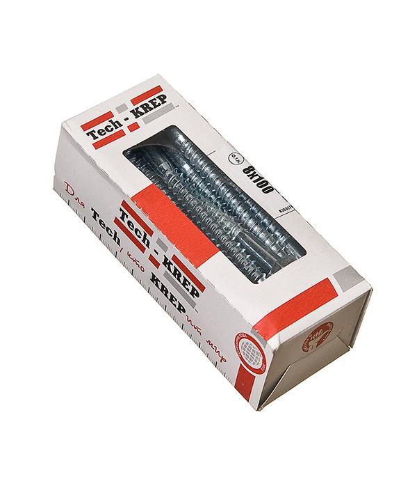 Болты сантехнические оцинкованные  8х100 мм DIN 571 (20 шт)