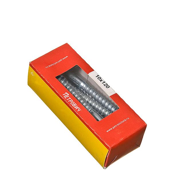Болты сантехнические оцинкованные 10х120 мм DIN 571 (10 шт)