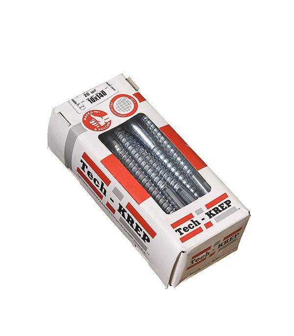Болты сантехнические оцинкованные 10х140 мм DIN 571 (20 шт)