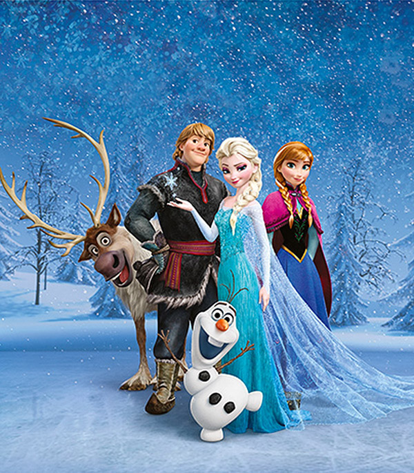 Фотообои 2,5х2,8 м 2 листа Disney Холодное сердце арт. 840118 OVK Design