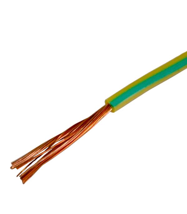 Провод ПВ3 (ПуГВ)  1х6 желто-зелёный