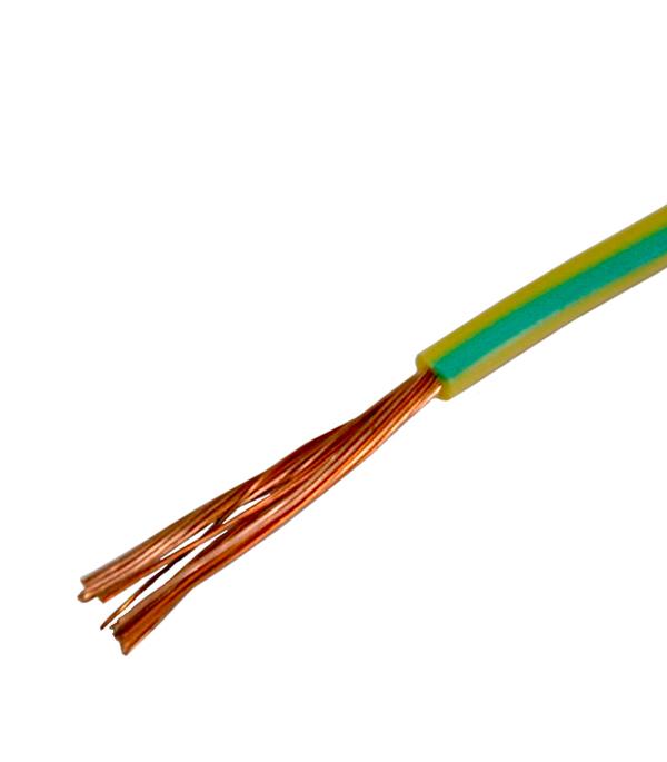 Провод ПВ3 (ПуГВ)  1х6 желто-зелёный (150 м)