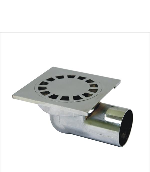 Трап угловой металлический 100х100, 50 мм (гидрозатвор)