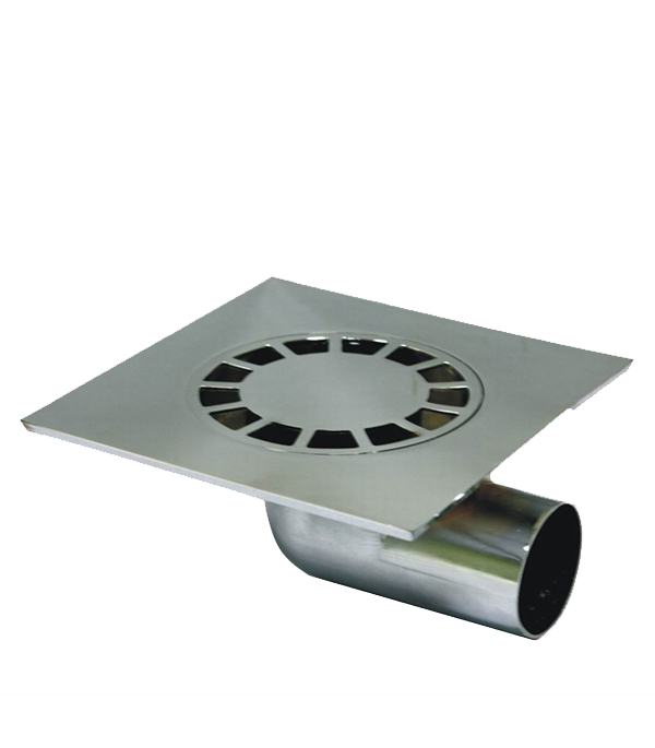 Трап угловой металлический 150х150, 50 мм (гидрозатвор)