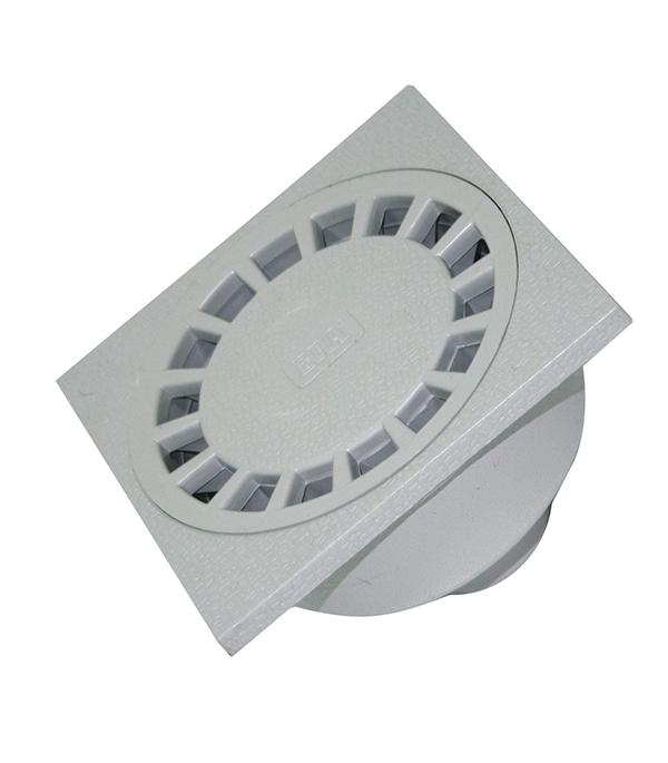 Трап прямой пластиковый 150х150, 50 мм усиленный (гидрозатвор)