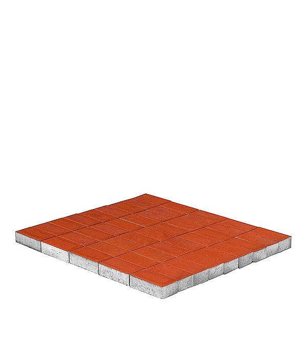 Плитка тротуарная Брусчатка (кирпичик) 100х200х40 мм красная щебень известняковый в калуге