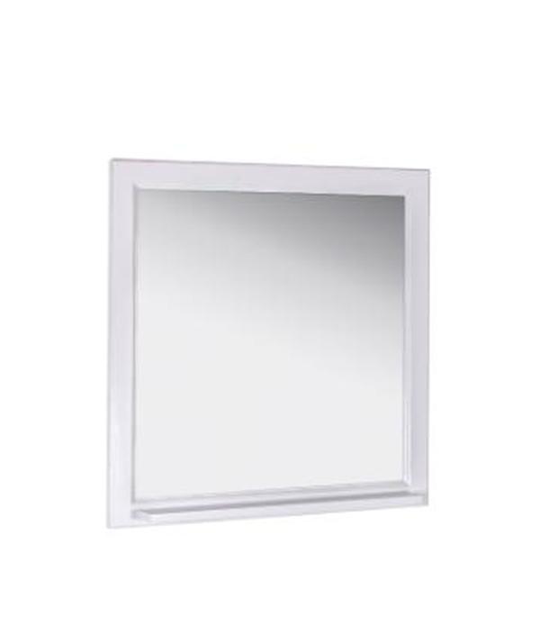 Зеркало Бергамо 850 мм ,белое (Патина серебро)