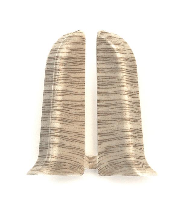 Заглушки торцевые (левая+правая) Дуб северный 55 мм