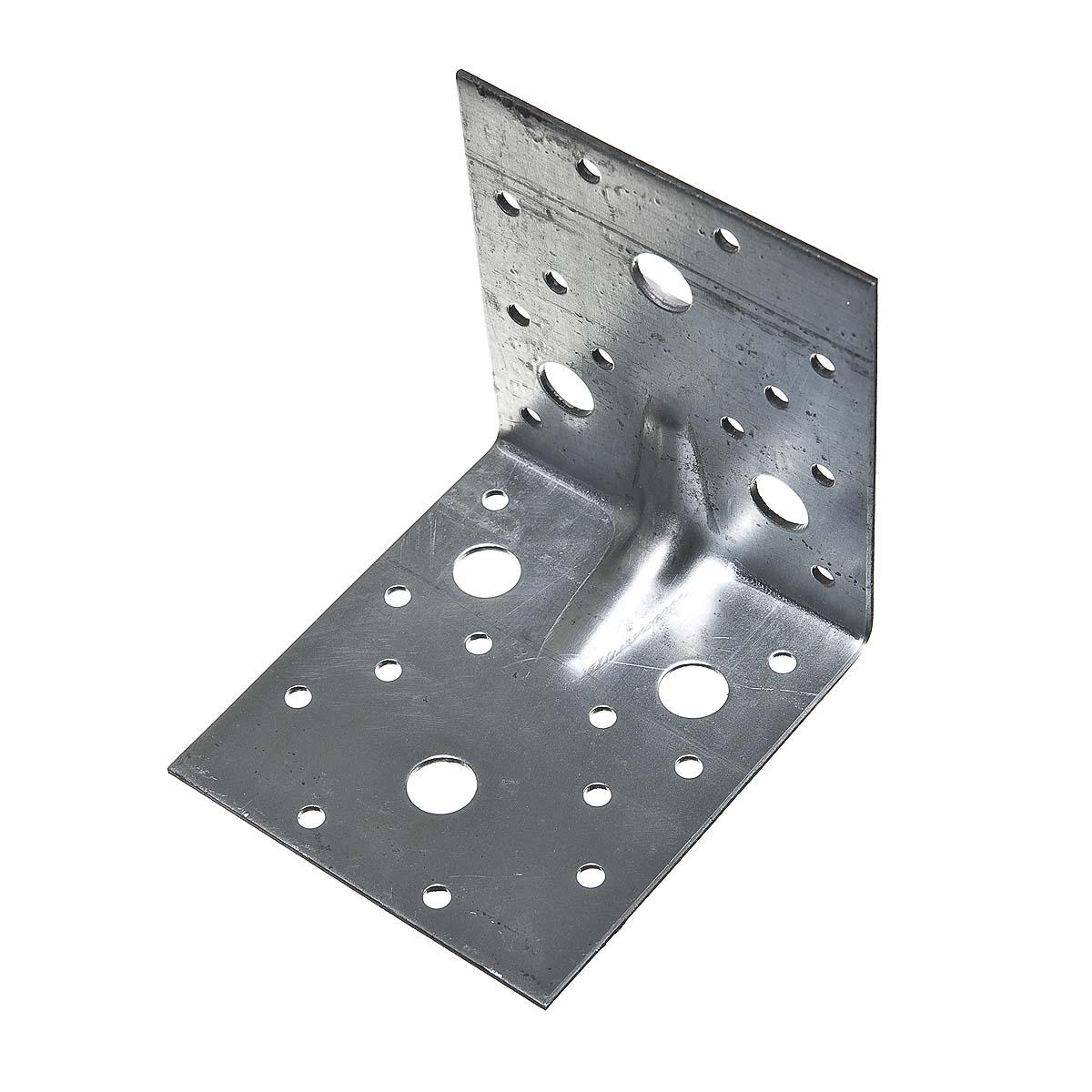 Уголок крепежный усиленный оцинкованный 100(5)х100(5)х90х2 мм