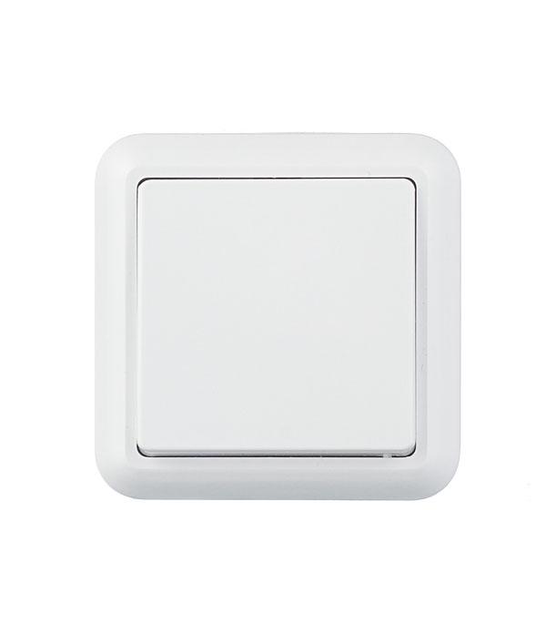 Выключатель Оптима о/у 1-кл. белый с монтаж. пластиной, 250В 10А