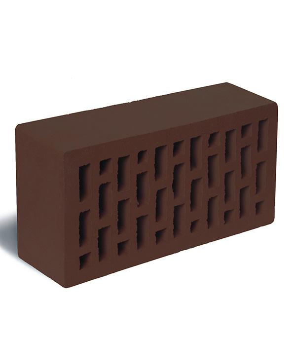 Кирпич лицевой темно-коричневый пустотелый М-175, 250х120х65 мм, Рябово