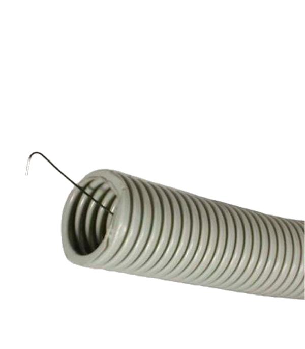Труба ПВХ 16 мм гофрированная с зондом (100 м) ДКС