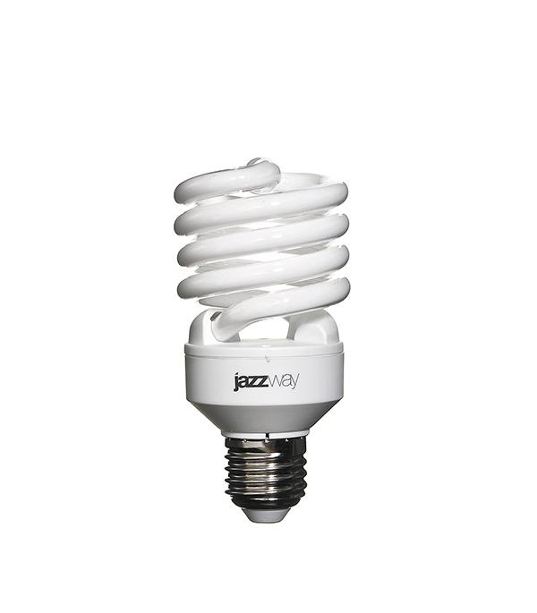 Лампа энергосберегающая E27, 25W, Spiral , 2700K (теплый свет), Jazzway
