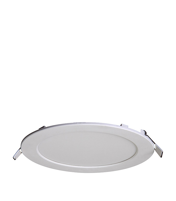 Светильник встраиваемый светодиодный  18 Вт круглый белый, IP20, 4000K (холодный свет), Jazzway