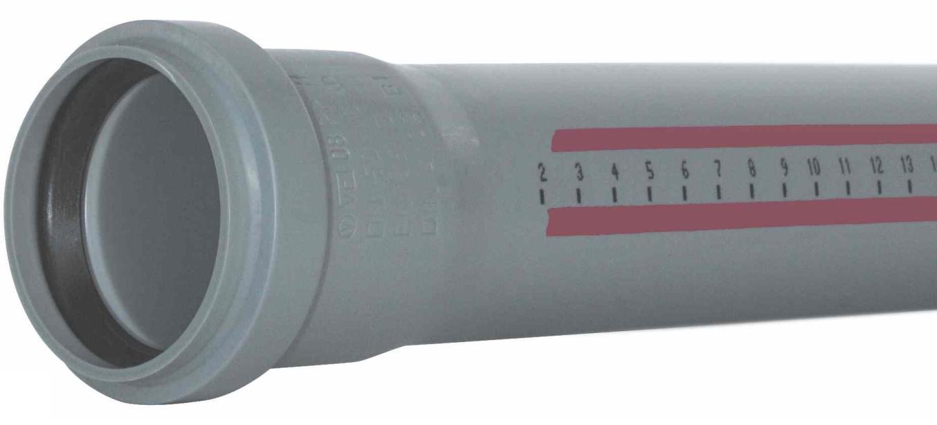 Труба канализационная внутренняя 110х1000 мм Ostendorf